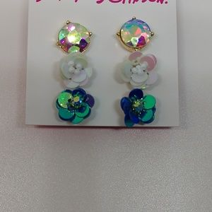 Betsey Johnson earrings 3 pair